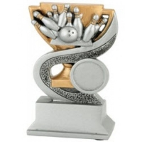 Pokal Pins mit Bowlingball