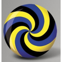 Fun Ball Spiral Yellow Blue Black - Br..