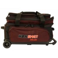 Double Bag schwarz/burgund HBK, mit Ro..