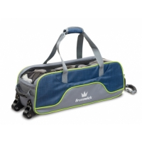 Crown Deluxe Triple Tote Navy/Lime Bow..